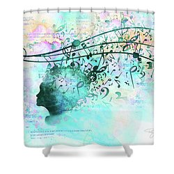 10846 Melodic Dreams Shower Curtain by Pamela Williams