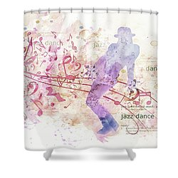 10849 All That Jazz Shower Curtain by Pamela Williams