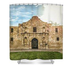 10862 The Alamo Shower Curtain by Pamela Williams