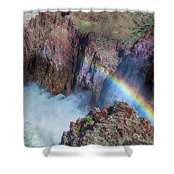 10883 Rainbow Over Owyhee Shower Curtain by Pamela Williams