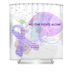10969 No One Fights Alone Shower Curtain