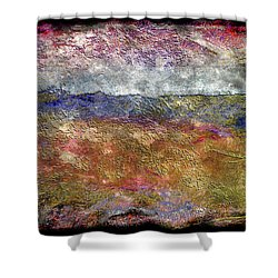 10c Abstract Expressionism Digital Painting Shower Curtain