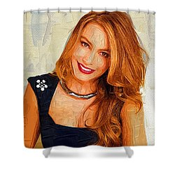 Actress Sofia Vergara  Shower Curtain by Best Actors