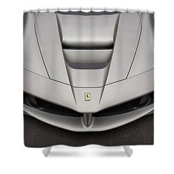 Shower Curtain featuring the photograph #ferrari #laferrari by ItzKirb Photography