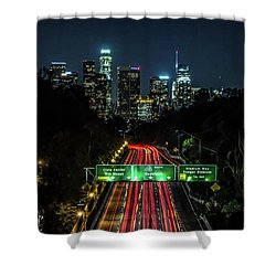 110 Freeway Shower Curtain