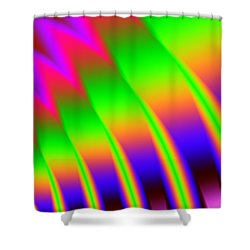 Shower Curtain featuring the digital art 110 In The Shade by Kevin Caudill