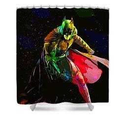 Batman Shower Curtain by Elena Kosvincheva
