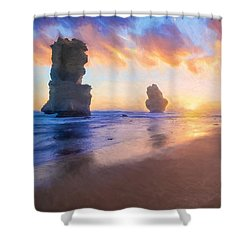 12 Apostles With Marshmallow Skies    Og Shower Curtain