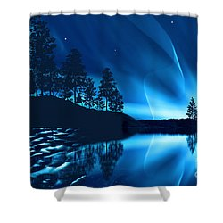 Shower Curtain featuring the photograph Aurora Borealis by Setsiri Silapasuwanchai