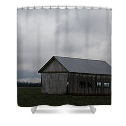 Barns In Pacific Northwest Shower Curtain