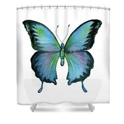 12 blue emperor butterfly shower curtain