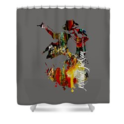 Michael Jackson Collection Shower Curtain by Marvin Blaine