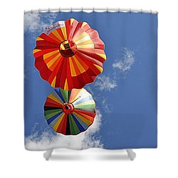 Shower Curtain featuring the photograph 12 Oclock High by AJ Schibig