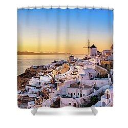Oia, Santorini - Greece Shower Curtain