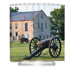 12-pounder Napoleon Shower Curtain by Jonas Wingfield