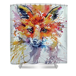 Red Fox Shower Curtain