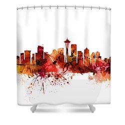 Seattle Washington Skyline Shower Curtain