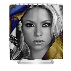 Shakira Collection Shower Curtain by Marvin Blaine