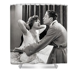 Silent Film Still: Couples Shower Curtain by Granger
