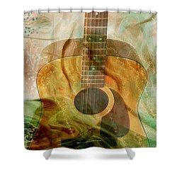 12 String Shower Curtain by Linda Sannuti