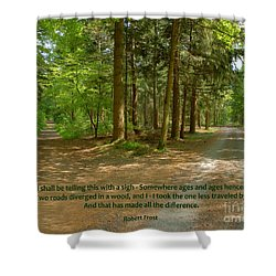 12- The Road Not Taken Shower Curtain