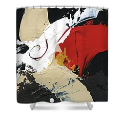 Three Color Palette Shower Curtain by Michal Mitak Mahgerefteh