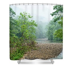 Shower Curtain featuring the photograph Williams River Summer Mist by Thomas R Fletcher