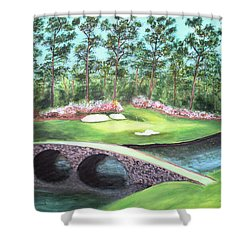 12th Hole At Augusta National Shower Curtain
