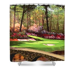 12th Hole At Augusta Ver Shower Curtain