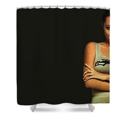 Angelina Jolie Shower Curtain