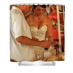 Faulkner Wedding Shower Curtain
