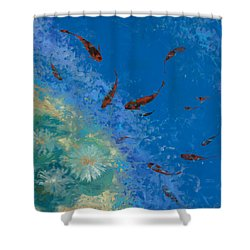 13 Pesciolini Rossi Shower Curtain