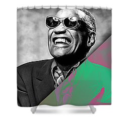 Ray Charles Collection Shower Curtain by Marvin Blaine