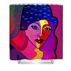 1307 - Mademoiselle  2017 Shower Curtain