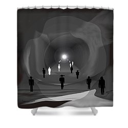1308 - Light At The End Of The Tunnel Shower Curtain