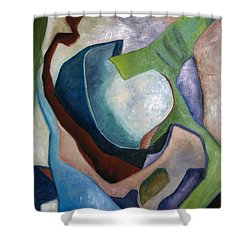 1319 Partial Recall Shower Curtain