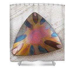 1350 Triangle Sunburst Pendant Shower Curtain