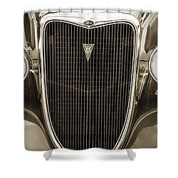 1934 Ford Sedan Antique Vintage Photograph Fine Art Print Collec Shower Curtain