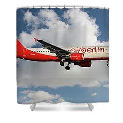 Air Berlin Airbus A320-214 Shower Curtain