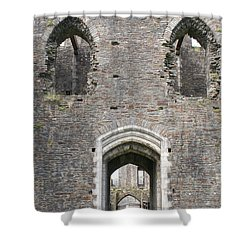 Caerphilly Castle Shower Curtain by Carol Ailles