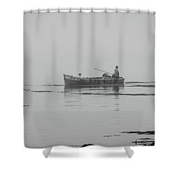 Shower Curtain featuring the photograph Down East Maine  by Trace Kittrell