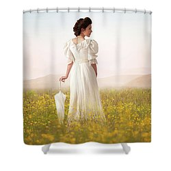 Edwardian Woman  Shower Curtain by Lee Avison