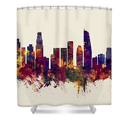 Los Angeles California Skyline Shower Curtain