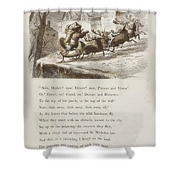 Night Before Christmas Shower Curtain by Granger