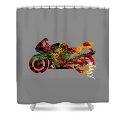 Ninja Motorcycle Shower Curtain