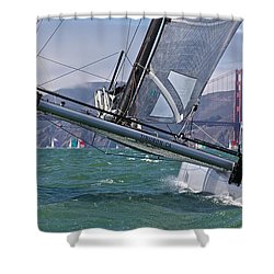 Rolex Regatta San Francisco Shower Curtain