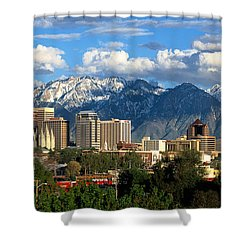 Salt Lake City Skyline Shower Curtain