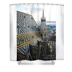St Stephens Cathedral Vienna Shower Curtain by Angela Rath