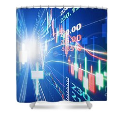 Shower Curtain featuring the photograph Stock Market Concept by Setsiri Silapasuwanchai
