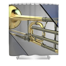 Trombone Collection Shower Curtain by Marvin Blaine